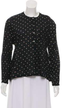 Etoile Isabel Marant Polka Dot Long Sleeve Top