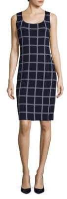 St. John Sleeveless Knitted Sheath Dress