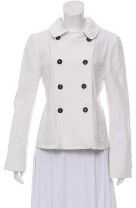 Giorgio Armani Denim Double-Breasted Jacket White Denim Double-Breasted Jacket