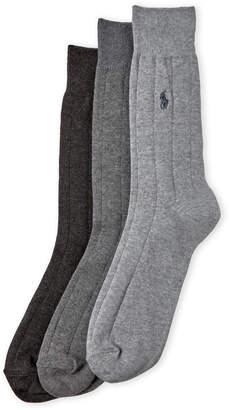 Polo Ralph Lauren 3-Pack Wide Rib Socks