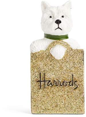 Harrods Westie in Gold Bag Magnet