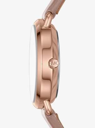 Michael Kors Petite Portia Leather Watch