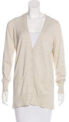 White + Warren V-Neck Button-Up Cardigan