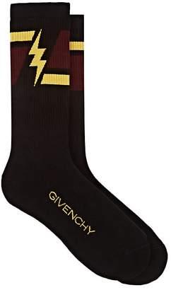 Givenchy Men's Colorblocked Cotton-Blend Ankle Socks