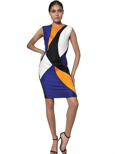 Roksanda Ilincic Silk Gazar, Wool Crepe And Tweed Dress