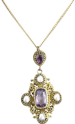 One Kings Lane Vintage Austro-Hungarian Amethyst Necklace - Owl's Roost Antiques