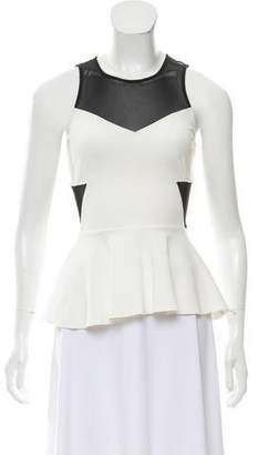 Intermix Sleeveless Peplum Top