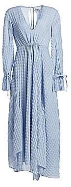 3.1 Phillip Lim Women's Long-Sleeve Textured Flare Maxi Dress