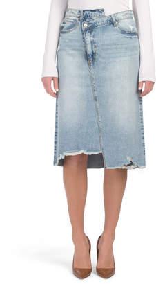 Peyton Crossover Denim Skirt