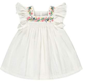 Bonton Nopnop Embroidered Crepe Dress