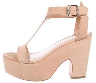 Loeffler Randall Prada Suede T-Strap Sandals