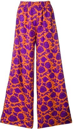 La DoubleJ printed palazzo trousers