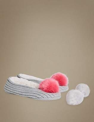 Marks and Spencer Pom Pom Ballet Slipper Socks