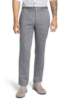 Ted Baker Flat Front Woven Classic Fit Trousers