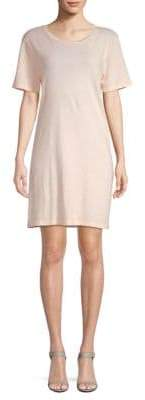 Short-Sleeve Cotton T-Shirt Dress