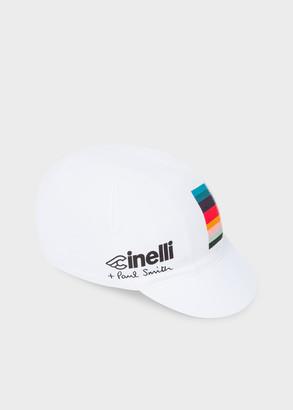 Paul Smith + Cinelli White 'Artist Stripe' Detail Cycling Cap