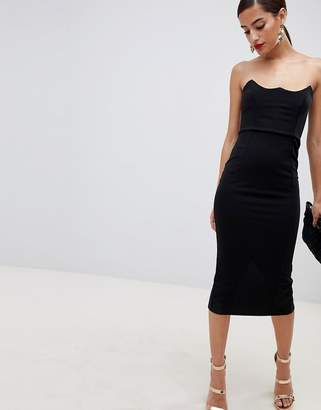 Asos Design DESIGN wired bodycon midi dress