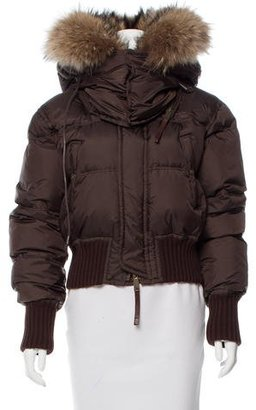 Dsquared2 Fur-Trimmed Puffer Jacket $395 thestylecure.com