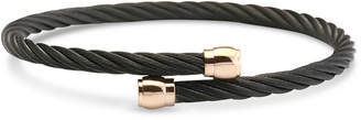 Charriol Two-Tone Cable Bypass Bangle Bracelet in Pvd Black- & Rose Gold-Tone Stainless Steel