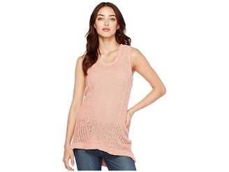 Vince Camuto Novelty Textured Stitch Sweater Tank Top Women's Sleeveless