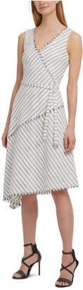 DKNY Asymmetrical Faux-Wrap Dress