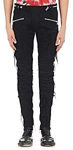 Balmain MEN'S DISTRESSED SKINNY BIKER JEANS - BLACK SIZE 34