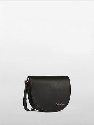 Calvin Klein Calvin Klein Womens Cartridge Coordinates Leather City Flap Bag Infinite Black