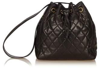 Chanel Vintage Matelasse Lambskin Leather Shoulder Bag