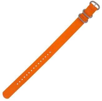 Dakota 18mm Slip Through Vibrant Colored Nylon Watch Strap with Metal Buckle Lime