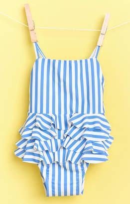 Show Me Your Mumu Riviera Ruffle One Piece ~ Nautical Stripe