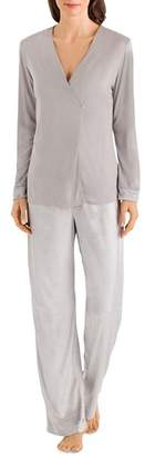 Hanro Ava Long Sleeve Pajama Set