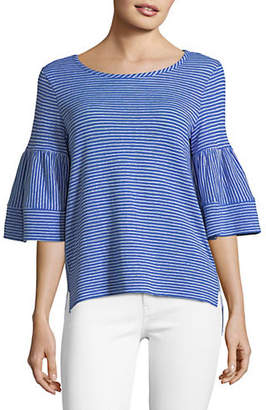 Jones New York Bell-Sleeve with Wide Cuff Top