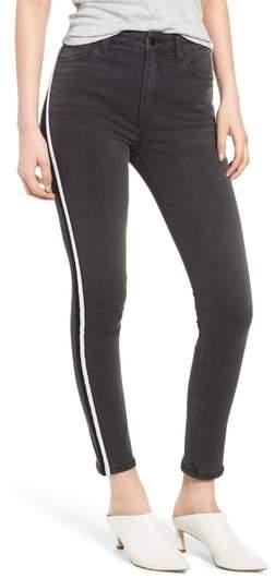 Charlie Velvet Stripe Ankle Skinny Jeans