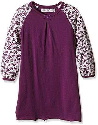 Minymo Girl's Chen 67 Nightdress Long Sleeve Pyjama Top,(Manufacturer Size:104)