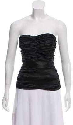 Dolce & Gabbana Ruched Strapless Top