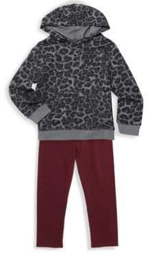 Splendid Baby's Girl's& Little Girl's Two-Piece Leopard Print Sweater and Pants Set