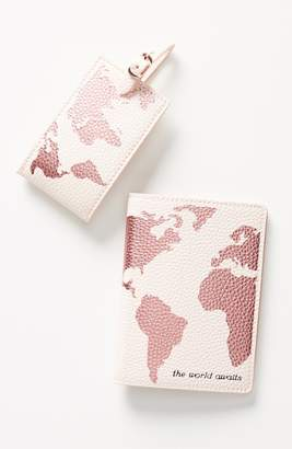 Anthropologie Luggage Tag & Passport Cover Set