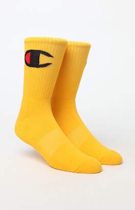 Champion Big C Logo Crew Socks