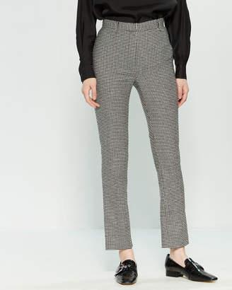 Hache Houndstooth Slim Fit Wool-Blend Pants