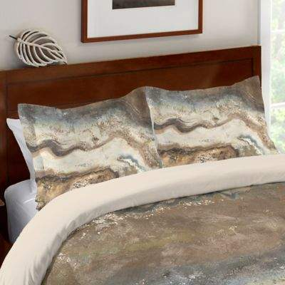 Laural Home® Lava Flow Standard Pillow Sham in Brown