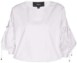 Nissa Casual Top With Puffed Sleeves