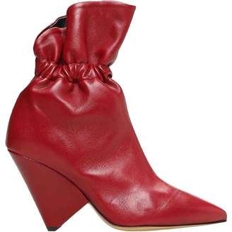 Isabel Marant Lileas Red Leather Boots