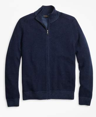 Brooks Brothers Washable Merino Wool Full-Zip Sweater