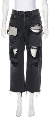 Alexander Wang High-Rise Wide-Leg Jeans w/ Tags