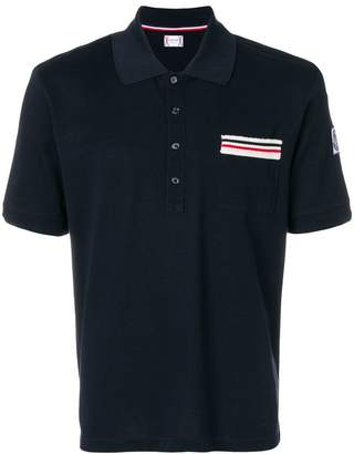 Moncler striped pocket polo shirt
