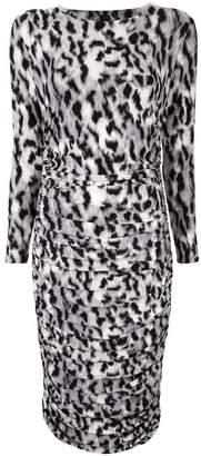 Norma Kamali leopard print striped dress