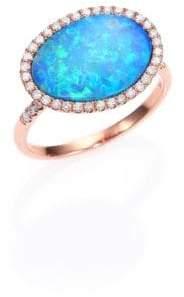 Meira T Opal, Diamond& 14K Rose Gold Ring