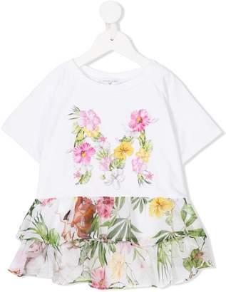 MonnaLisa floral print T-shirt