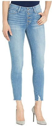 Paige Hoxton Crop w/ Exposed Button Fly + Raw Hem in Bronwyn Destructed Hem