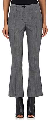 Helmut Lang Women's Houndstooth Wool-Blend Flared Crop Pants